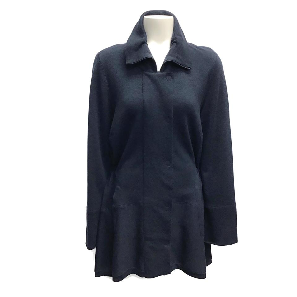 Akris Punto Navy Heather Wool Jacket
