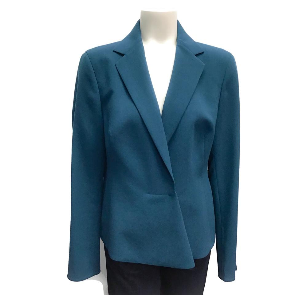 Akris Teal Wool Blazer