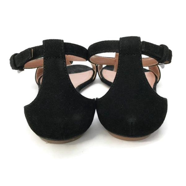 ALAÏA Black Suede Sandals