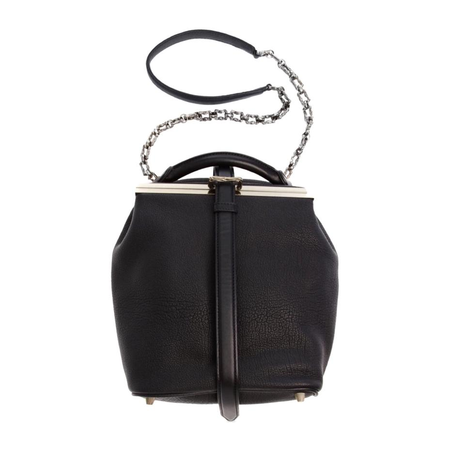 Alexander Wang Willow Pebbled Black Leather Messenger Bag