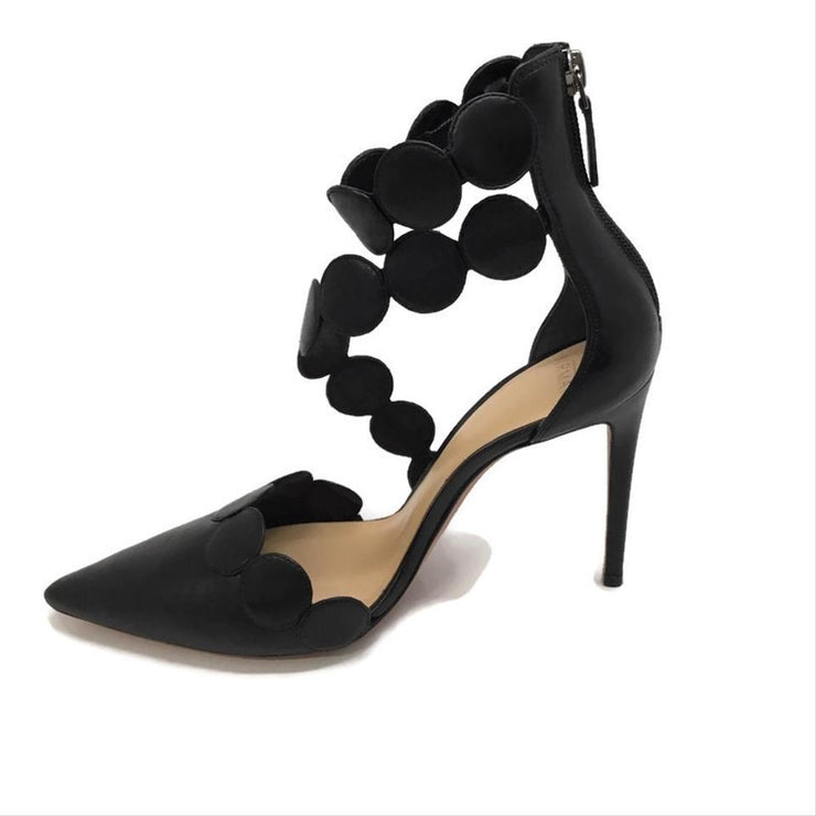 Alexandre Birman Black Circle Wrap Pumps