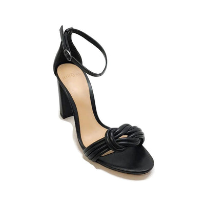 Alexandre Birman Black Leather Chiara Sandals