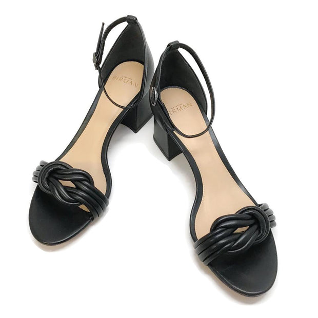 Alexandre Birman Black Leather Malica Sandals
