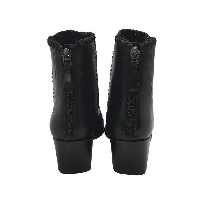 Alexandre Birman Black Stitch Boots/Booties