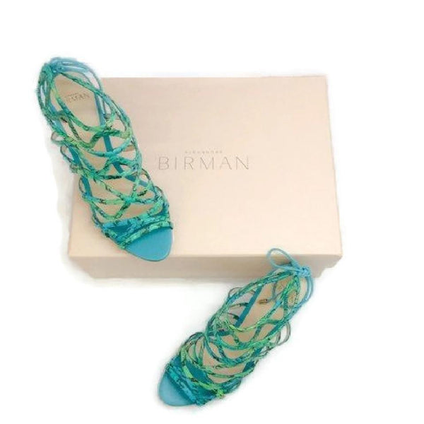 Nim Turquoise Sandals by Alexandre Birman with box