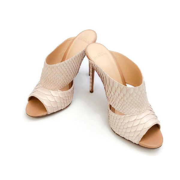 Python Nude Sandals by Alexandre Birman pair