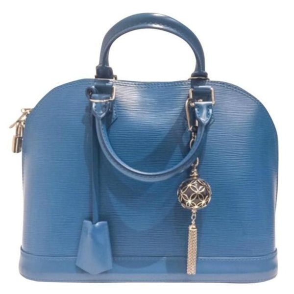 Alma Satchel Teal Epi by Louis Vuitton