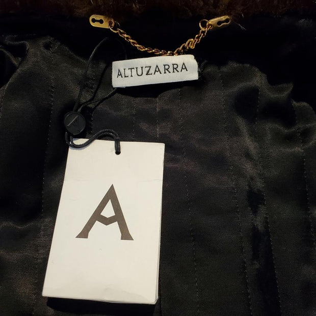 Altuzarra Black Swing with Pearls and Mink / Fox Coat