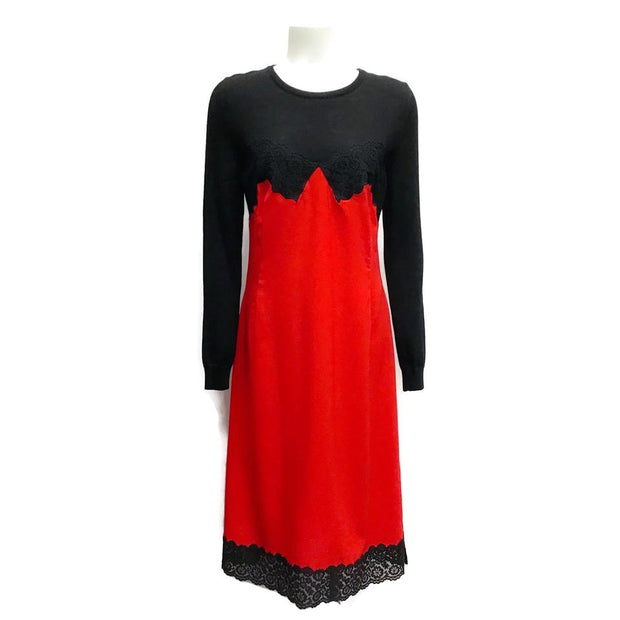 Altuzarra Red/Black Wool/Lace Dress