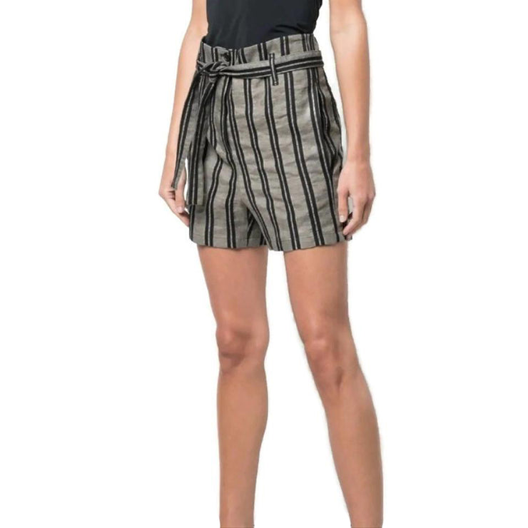 Ann Demeulemeester Mud/Black Striped Shorts