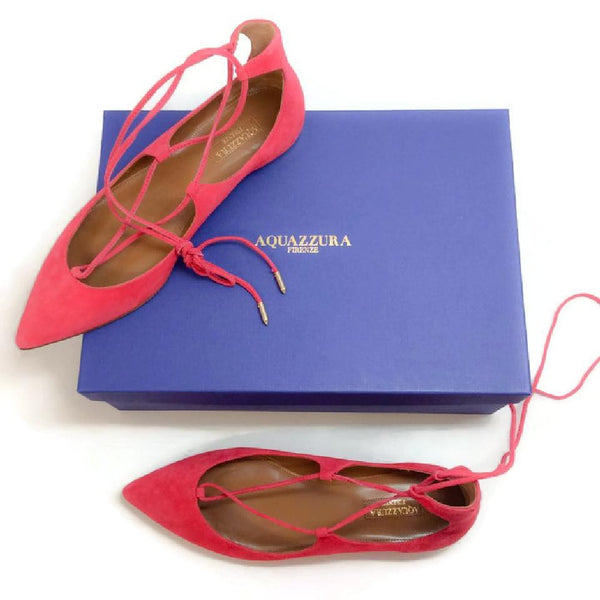Christy Sorbet FLats by Aquazzura with box