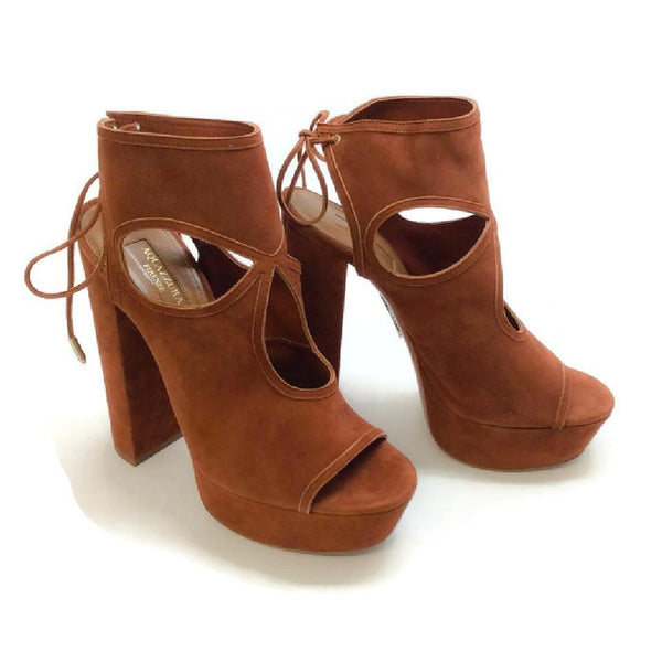 Sexy Thing Tan Platforms by Aquazzura