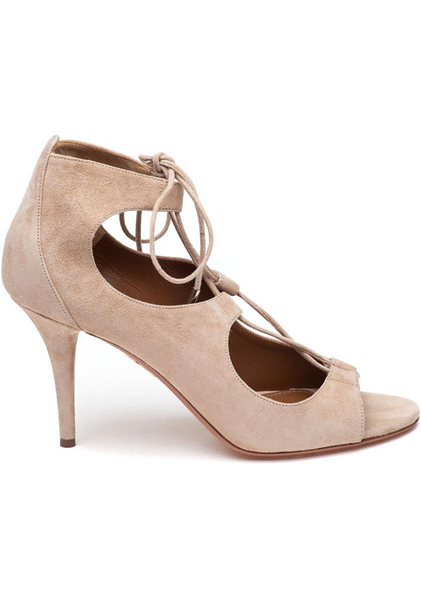 Christy 85 Nude Pumps by Aquazzura side