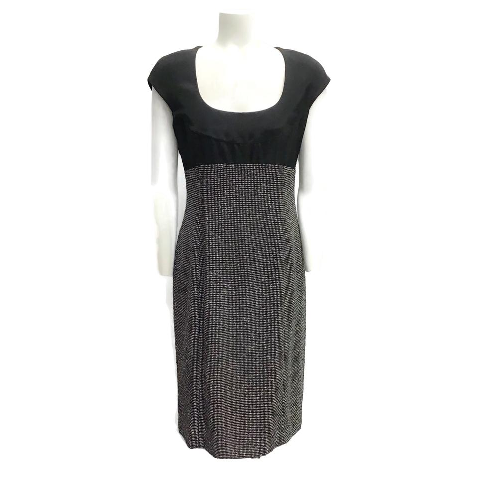 Armani Collezioni Black/White Tweed Dress