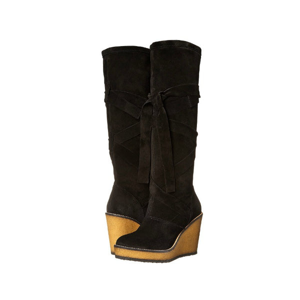 Avane Suede Wrap Around Boot by Robert Clergerie