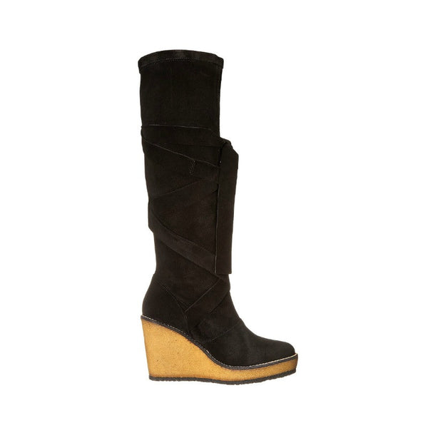 Avane Suede Wrap Around Boot by Robert Clergerie outside