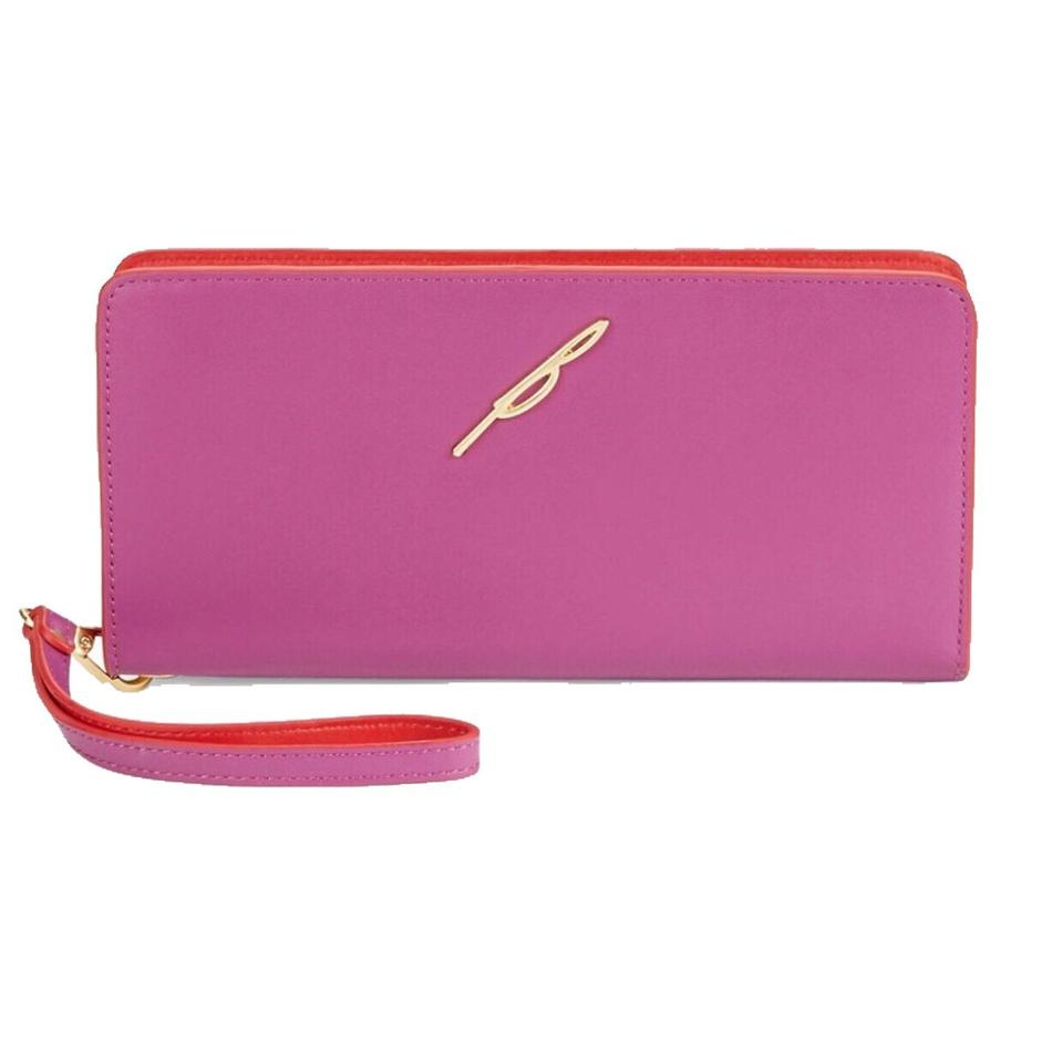 B Brian Atwood Red/Magenta Belle Wristlet Wallet