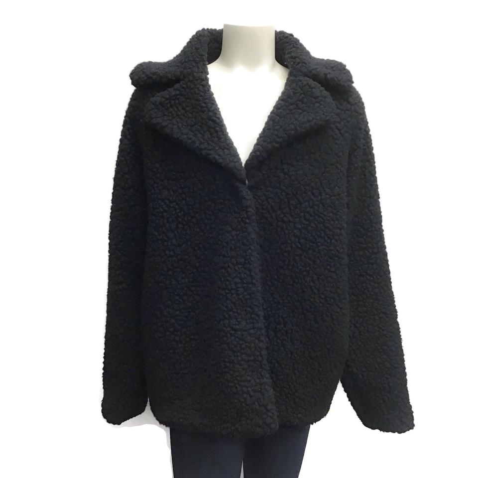 Balenciaga Black Textured Coat