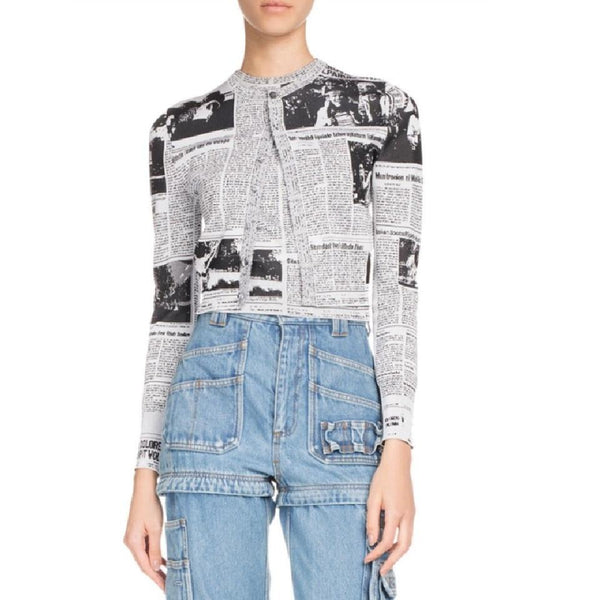 Balenciaga Newspaper Cardigan