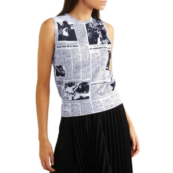 Balenciaga Newspaper Sleeveless Sweater