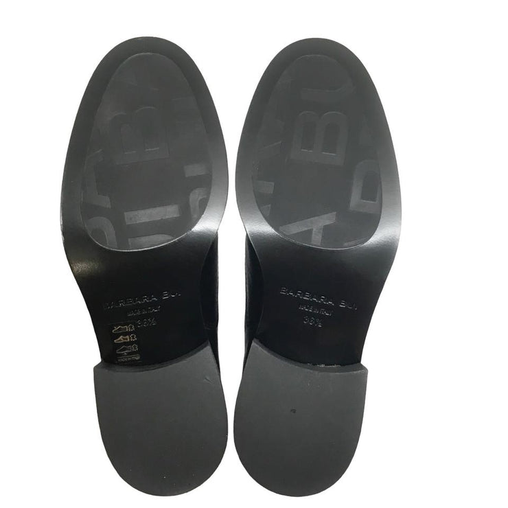 Barbara Bui Black Silver Slip On Flats