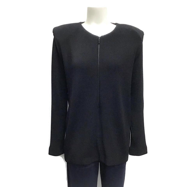 Barbara Bui Woven Zip Black Sweater