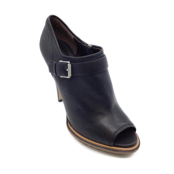 Belstaff Black Peep-toe Leather Boots