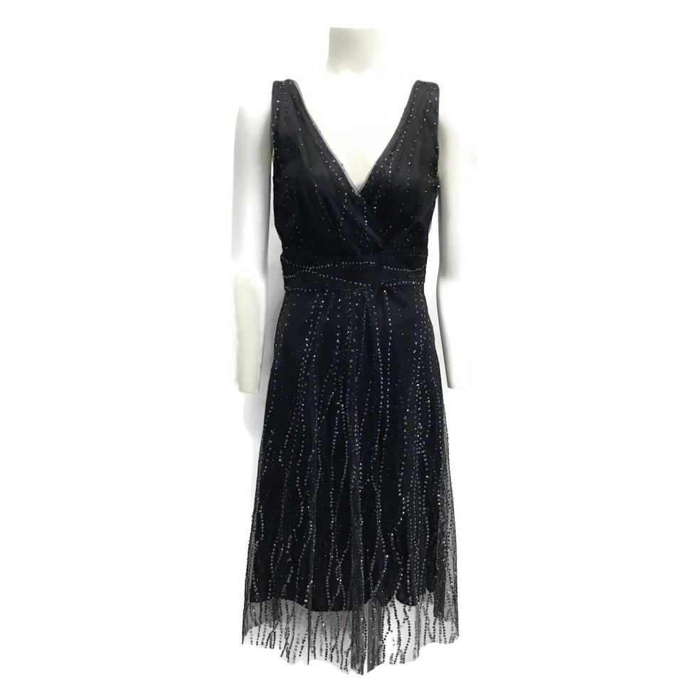 Kalinka Black/Silver Mesh/Glitter Dress
