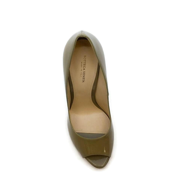Bottega Veneta Beige Peep Toe Pumps