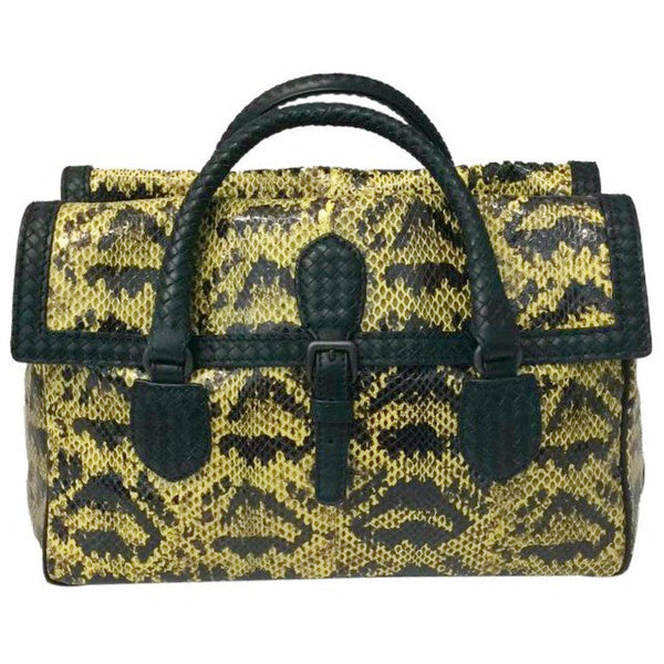 Black and Yellow Satchel by Bottega Veneta