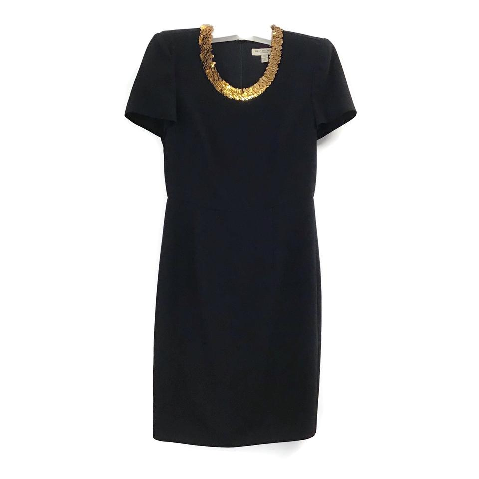 Burberry London Black Sequin Crewneck Dress