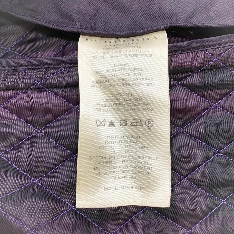 Burberry Prorsum Plum Quilted Jacket