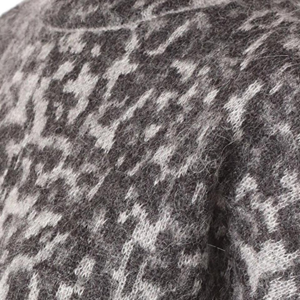 By Malene Birger Black/Gray Mohair Knit Sweater
