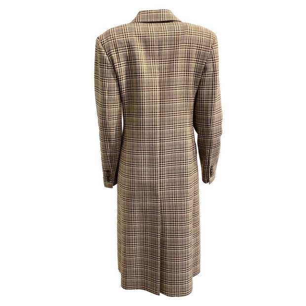 Calvin Klein 205W39NYC Brown Double Breasted Check Coat