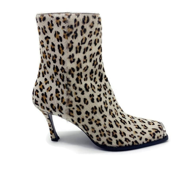 Calvin Klein Multicolor Leopard Pony Heeled Boots