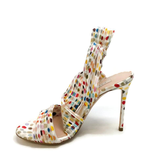 Casadei White / Multicolored Marisa Sandals