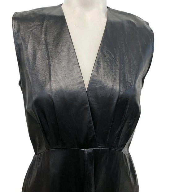 Céline Black Leather Night-Out Dress