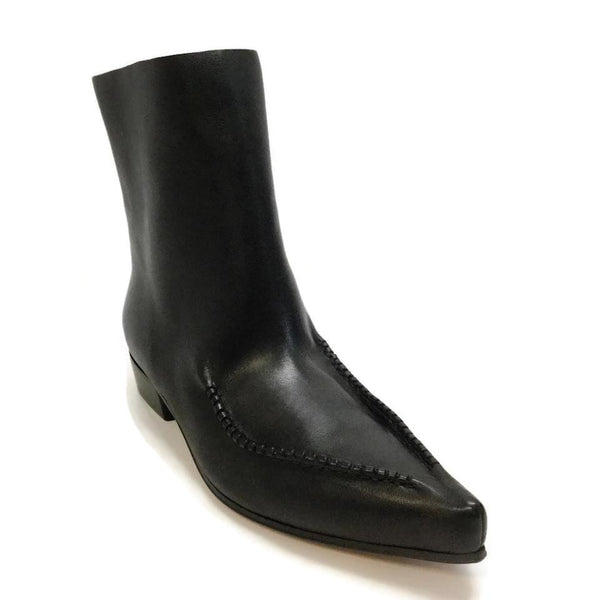Céline Black Wide Ankle Boots