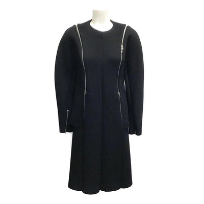 Céline Black Wool Zipper Dress