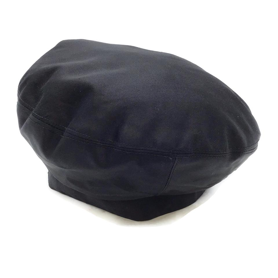 Chanel Black Satin Beret Hat