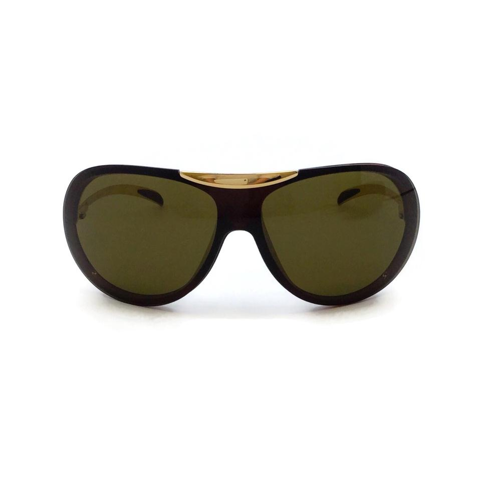 Chanel Brown / Gold Aviator 6006 Sunglasses
