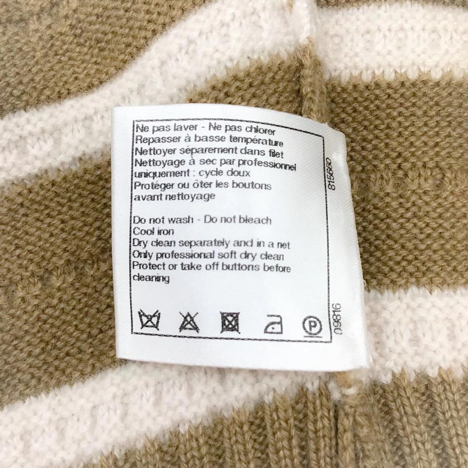 Chanel Cashmere Tan/Cream Sweater