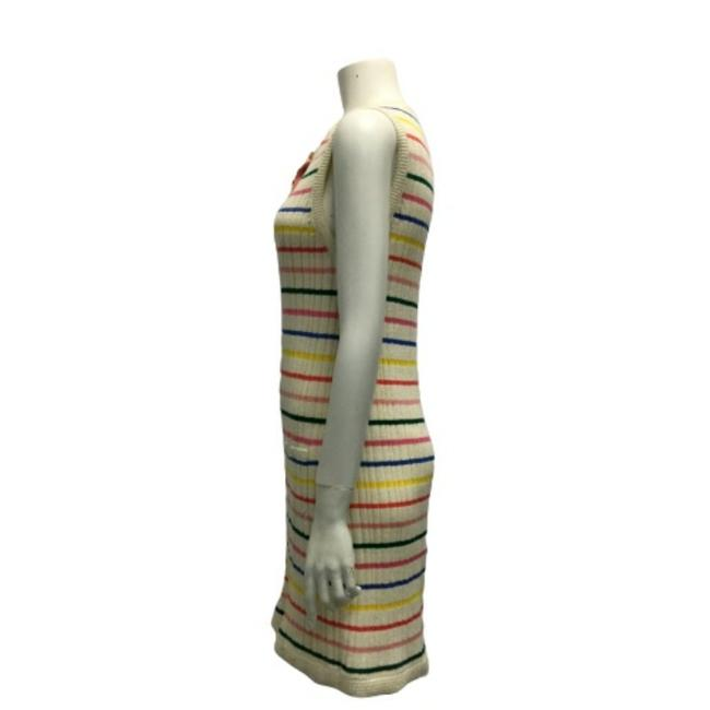 Chanel Multicolor Striped Knit Dress