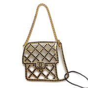 Chanel Gold/Black Handbag Brooch
