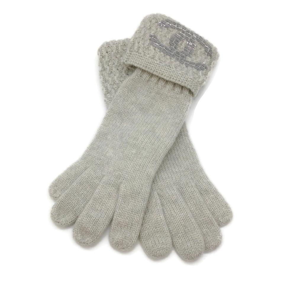 Chanel Grey Cashmere Gloves