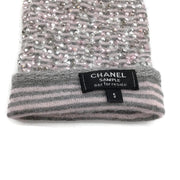 Chanel Heather Grey/Pink Arm Warmers