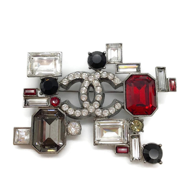 Chanel Multi-color Jeweled Brooch