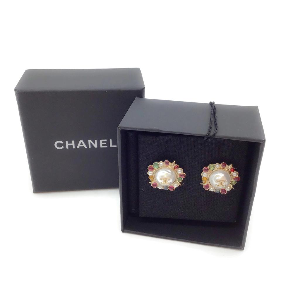 Chanel Pearl/Multi Earrings