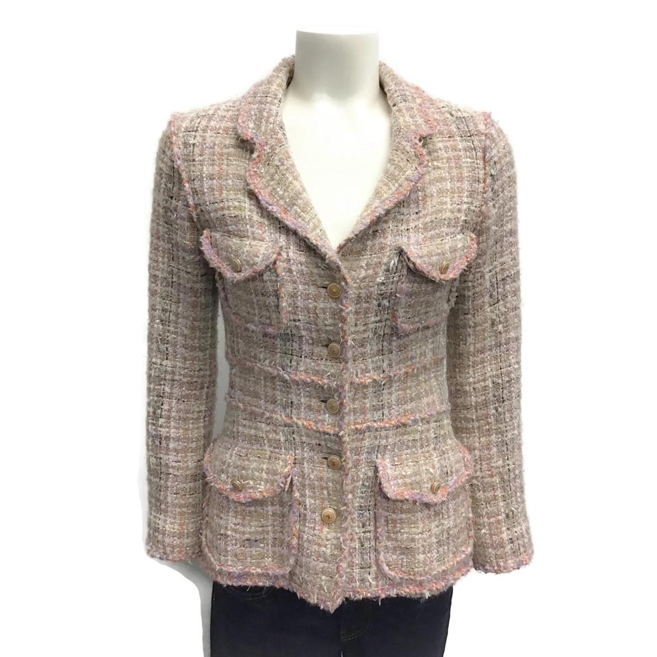 Chanel Pink Multi Tweed Blazer