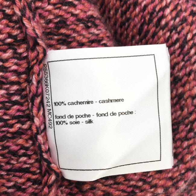 Chanel Pink Speckled Cashmere Cardigan Sweater